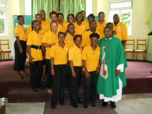 After launching this group at Sunday Mass with Parish Priest H. Sharplis